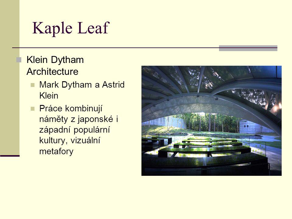 Kaple Leaf Klein Dytham Architecture Mark Dytham a Astrid Klein