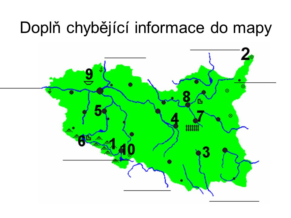 Doplň chybějící informace do mapy