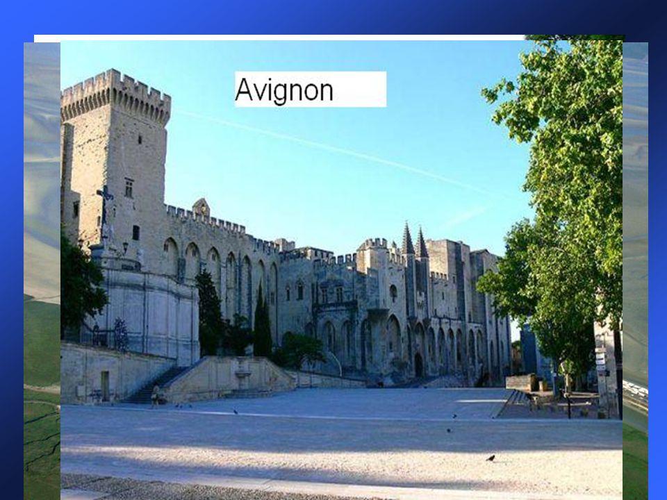 Významná místa a města Zámky na Loiře Avignon: papežský palác