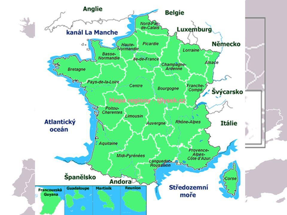 Poloha Západní Evropa (západně od Stř. Evropy a severovýchodně od Pyrenejského poloostrova)