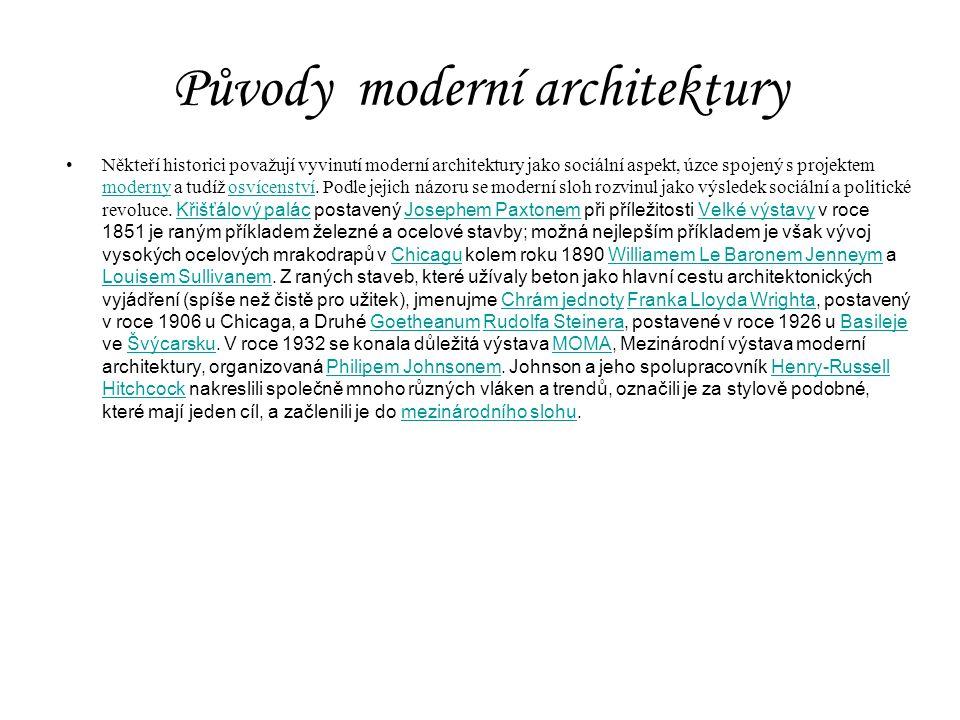 Původy moderní architektury