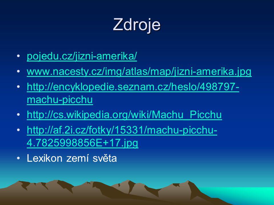 Zdroje pojedu.cz/jizni-amerika/