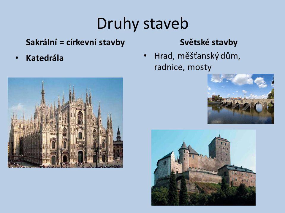 Sakrální = církevní stavby
