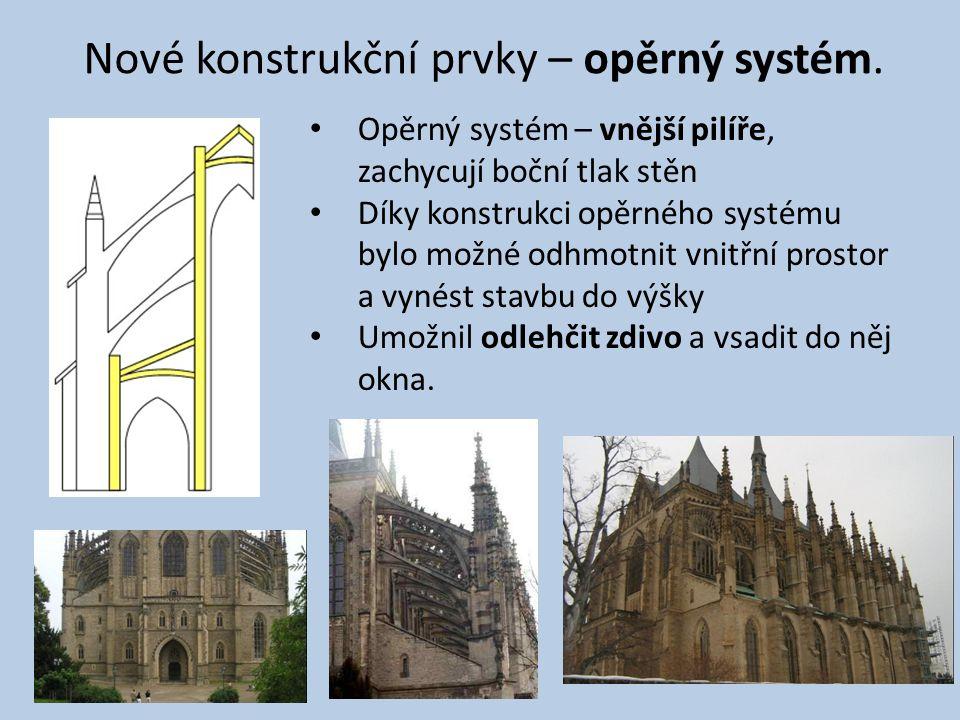 Nové konstrukční prvky – opěrný systém.
