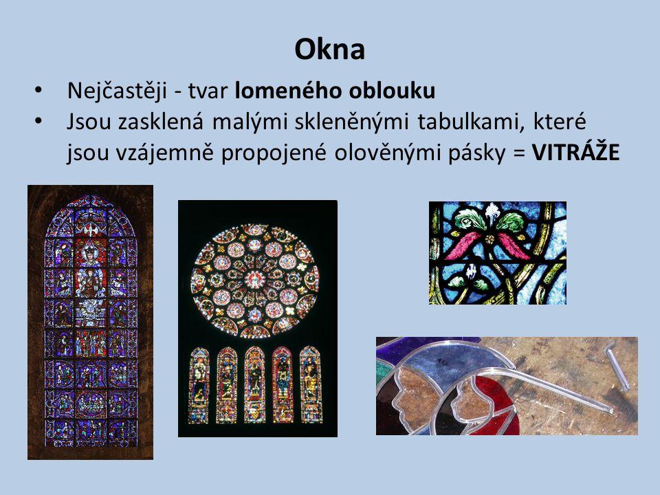 Okna Nejčastěji - tvar lomeného oblouku