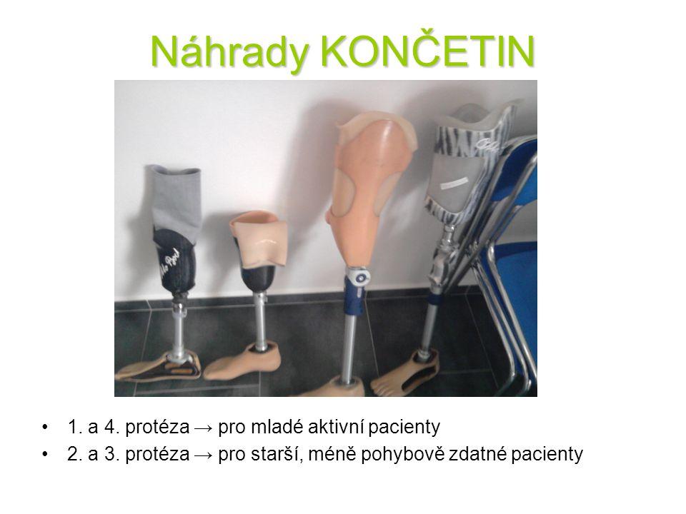 Náhrady KONČETIN 1. a 4. protéza → pro mladé aktivní pacienty