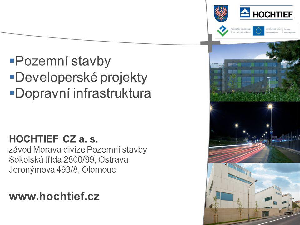 Developerské projekty Dopravní infrastruktura