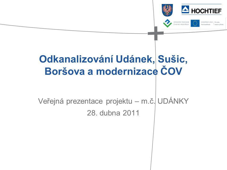 Odkanalizování Udánek, Sušic, Boršova a modernizace ČOV