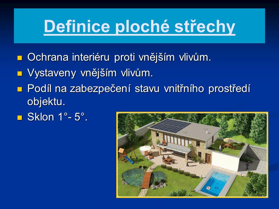 Definice ploché střechy