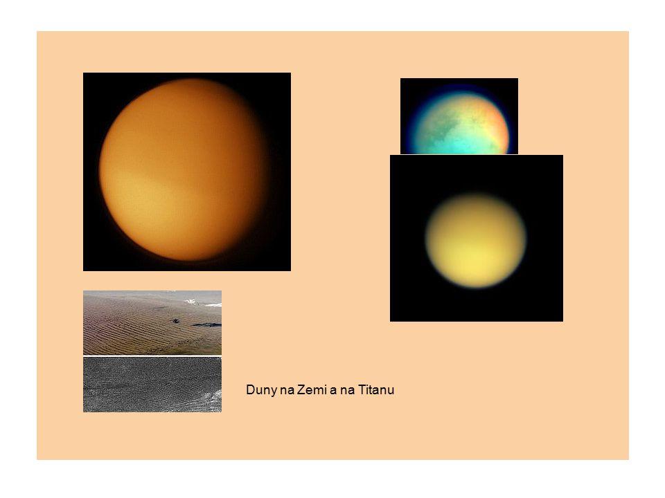 Duny na Zemi a na Titanu