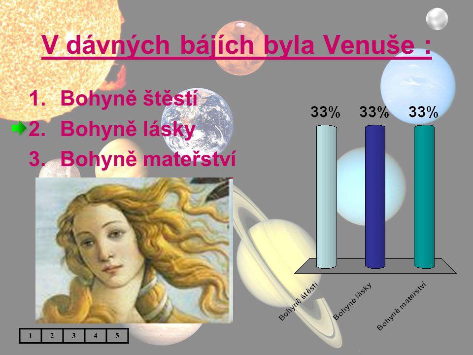 V dávných bájích byla Venuše :