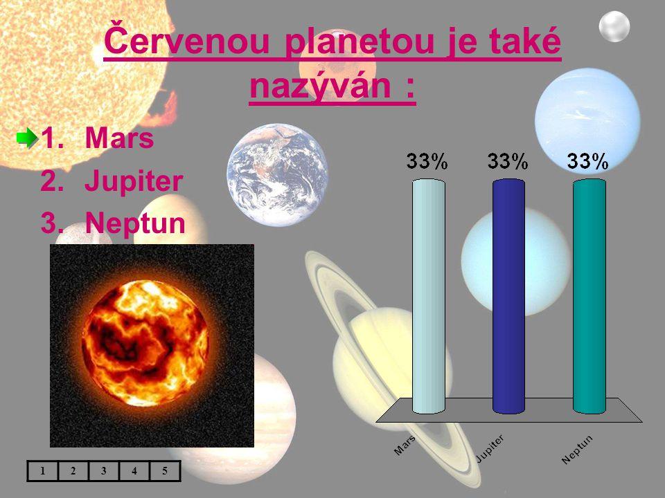 Červenou planetou je také nazýván :