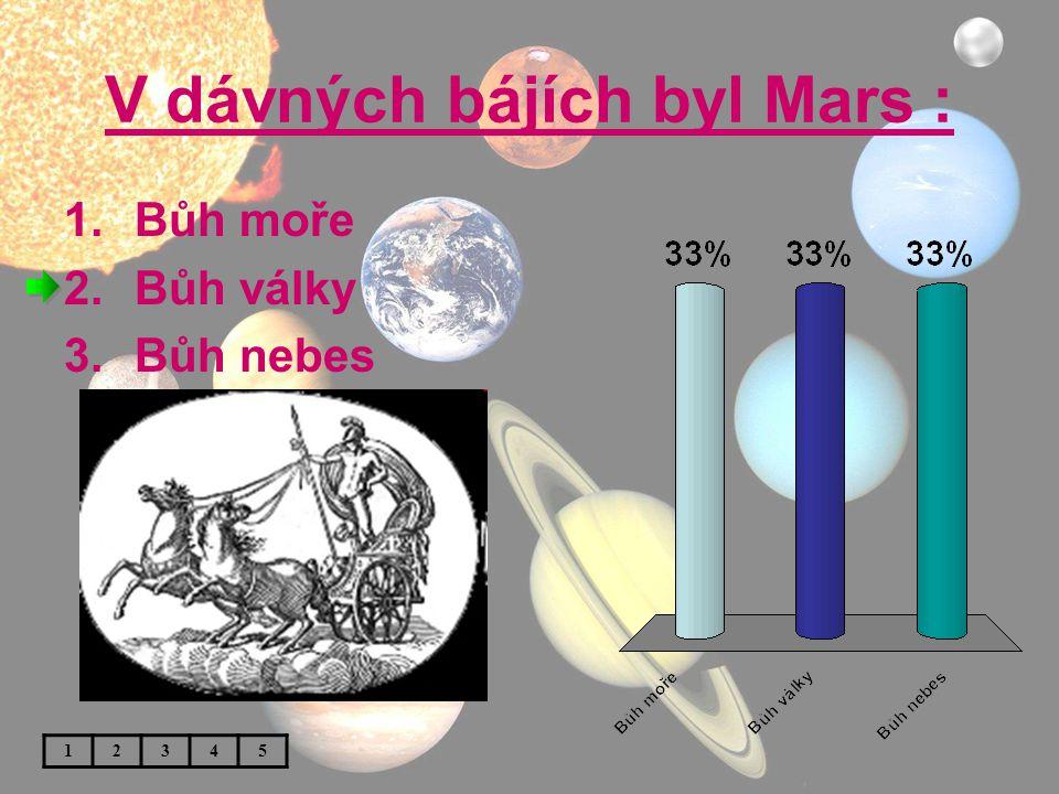 V dávných bájích byl Mars :