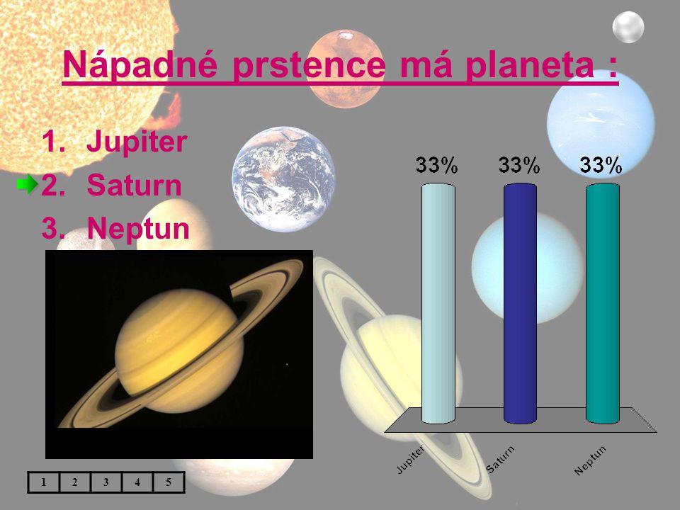 Nápadné prstence má planeta :