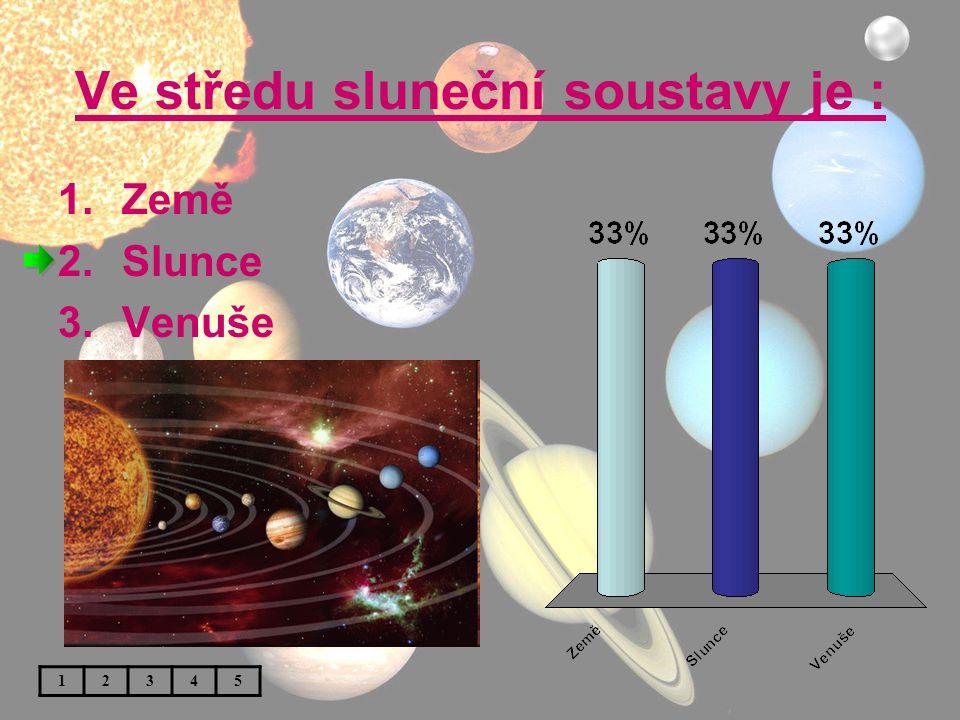Ve středu sluneční soustavy je :