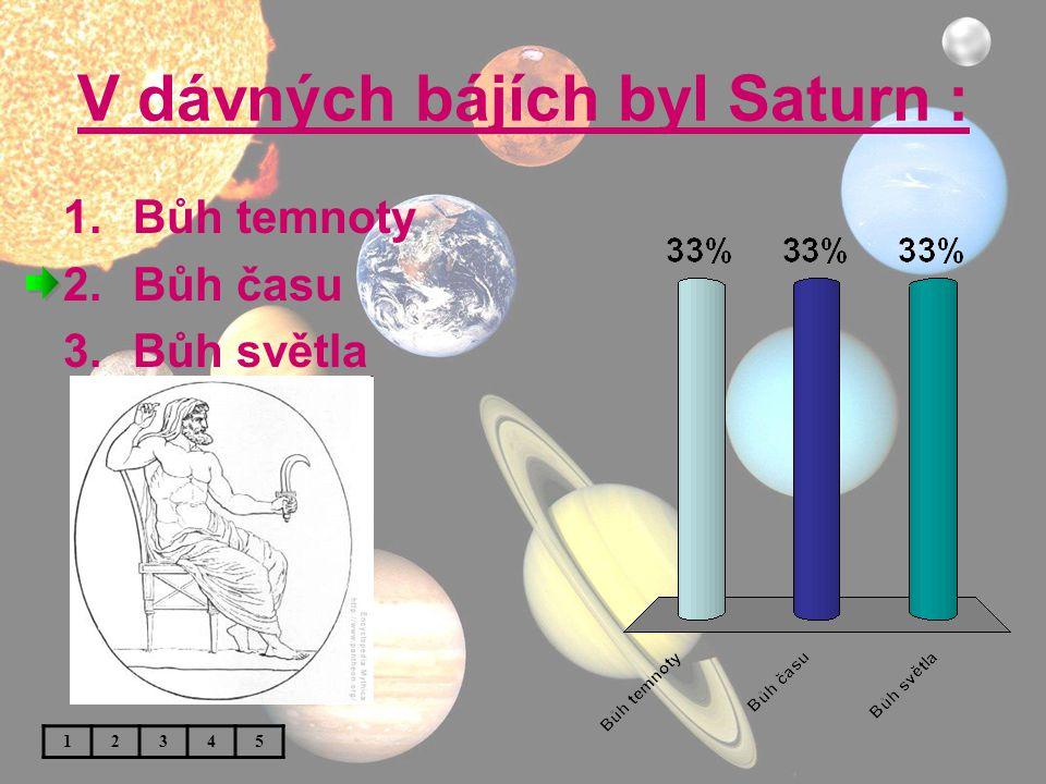 V dávných bájích byl Saturn :