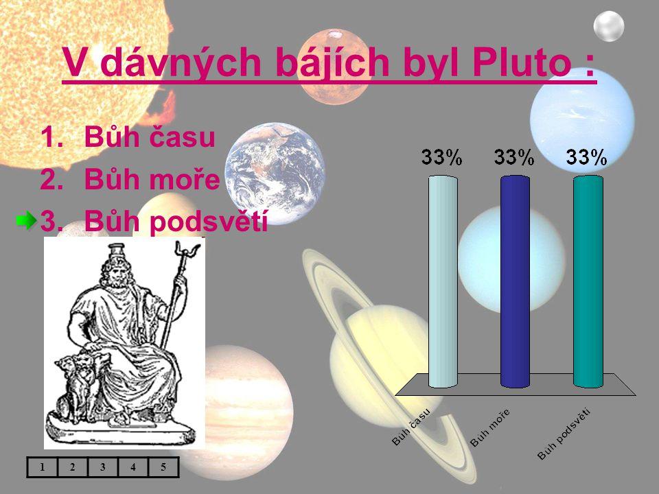 V dávných bájích byl Pluto :