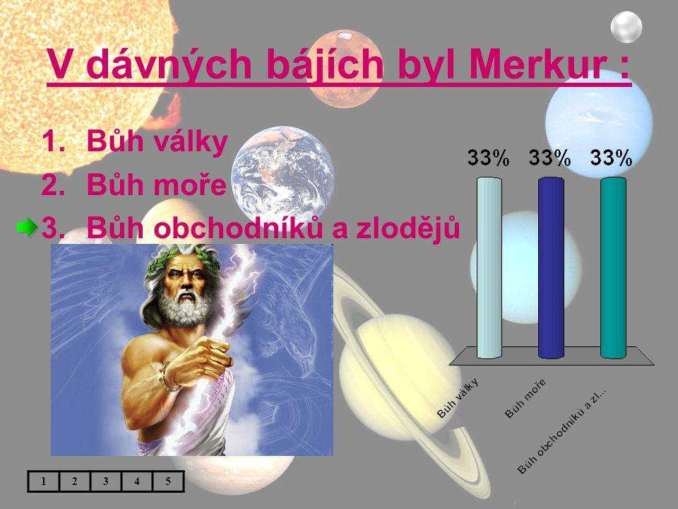 V dávných bájích byl Merkur :