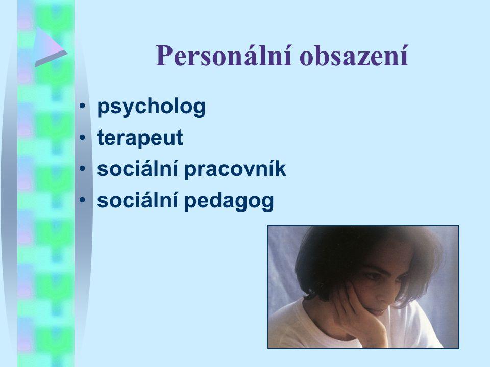 Personální obsazení psycholog terapeut sociální pracovník