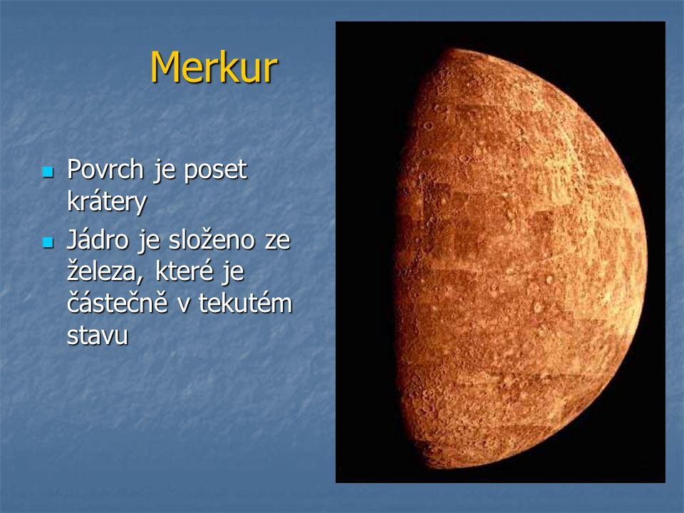 Merkur Povrch je poset krátery