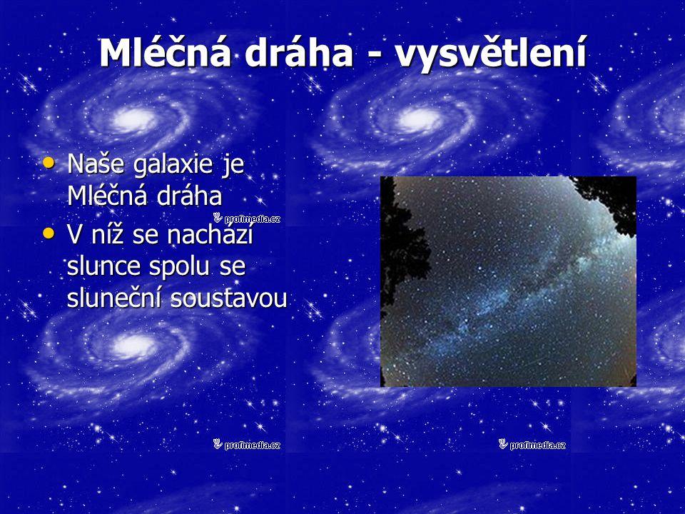 Mléčná dráha - vysvětlení