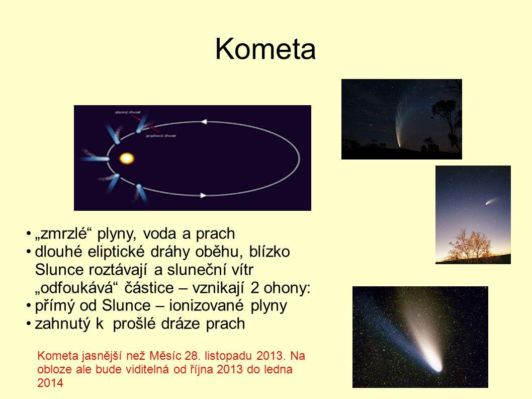 """Kometa """"zmrzlé plyny, voda a prach"""