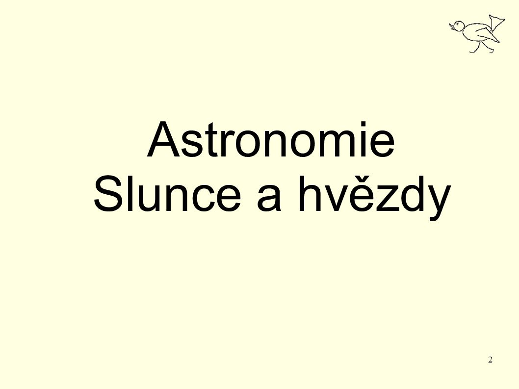 Astronomie Slunce a hvězdy