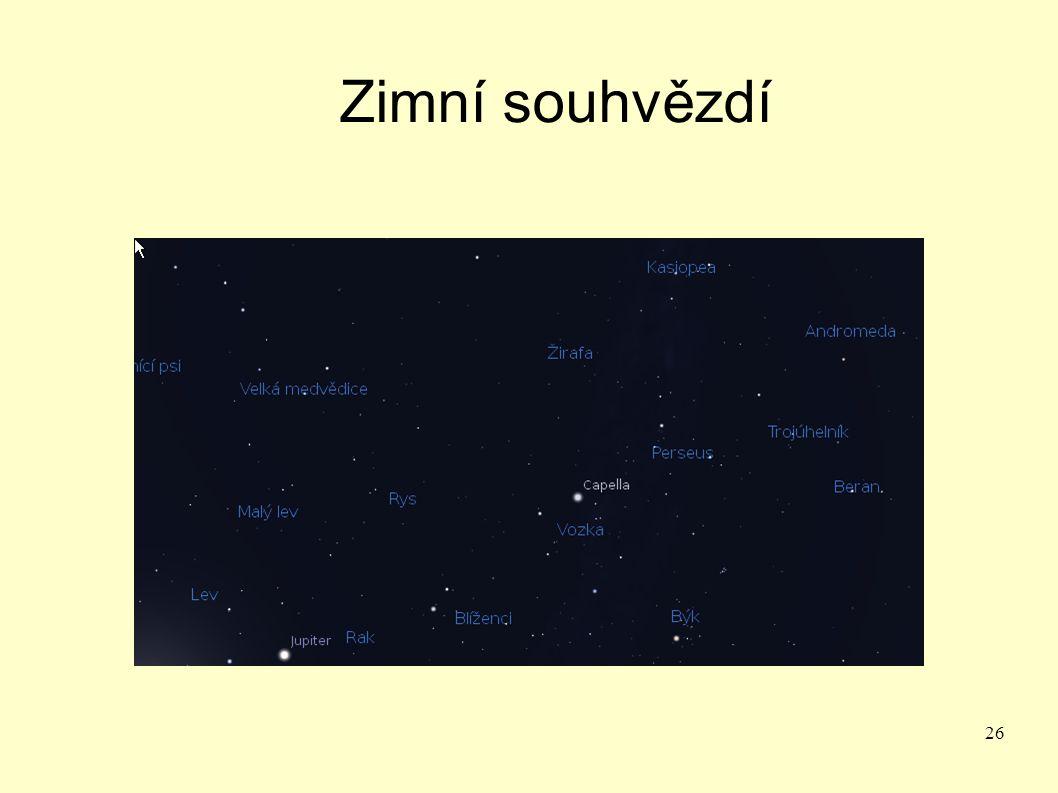 Zimní souhvězdí