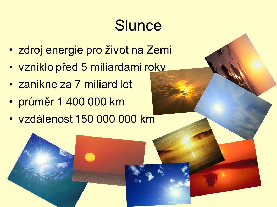 Slunce zdroj energie pro život na Zemi vzniklo před 5 miliardami roky