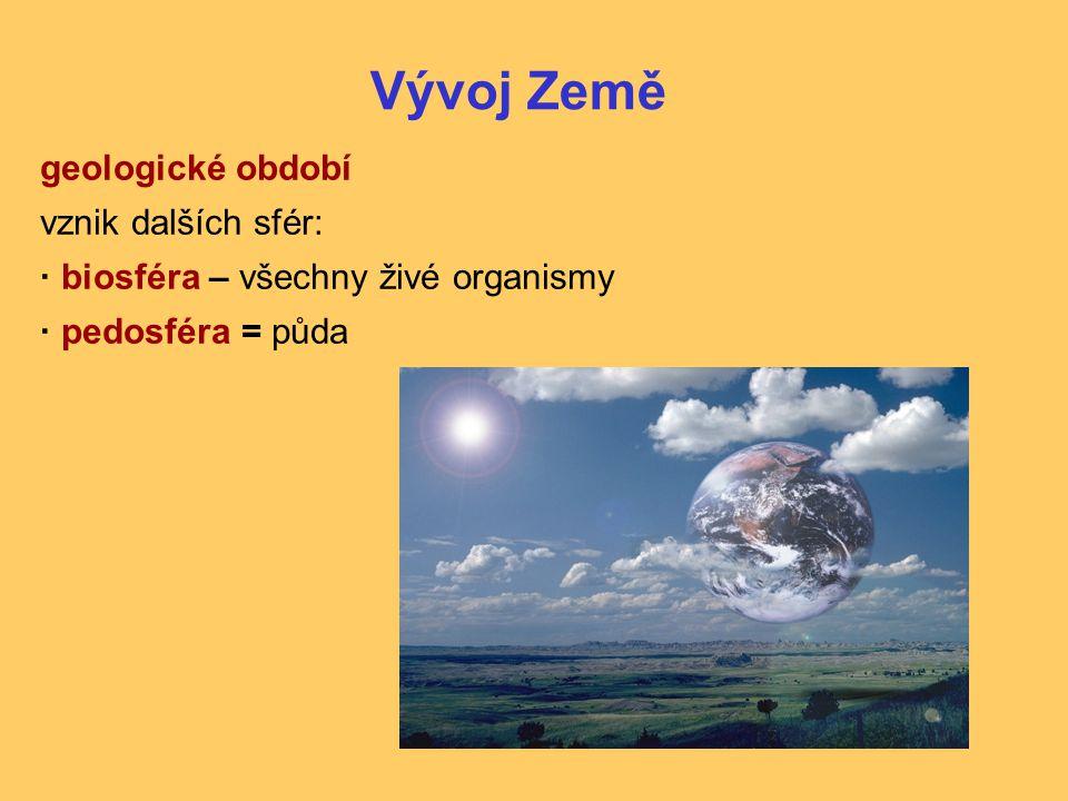 Vývoj Země geologické období vznik dalších sfér: