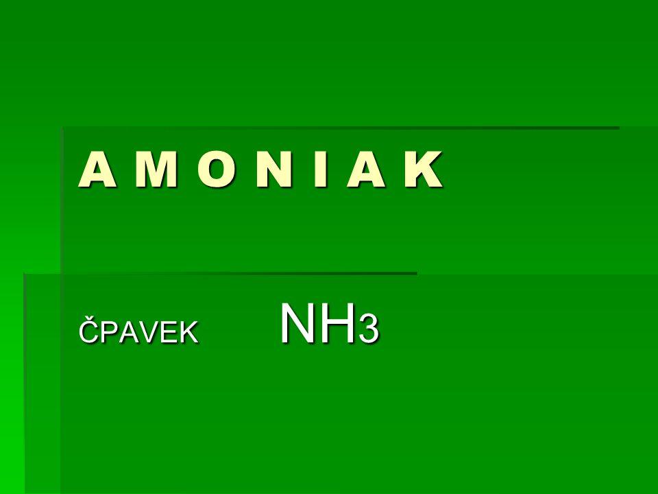 A M O N I A K ČPAVEK NH3