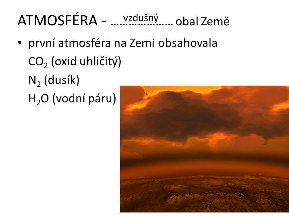 ATMOSFÉRA - ………………… obal Země