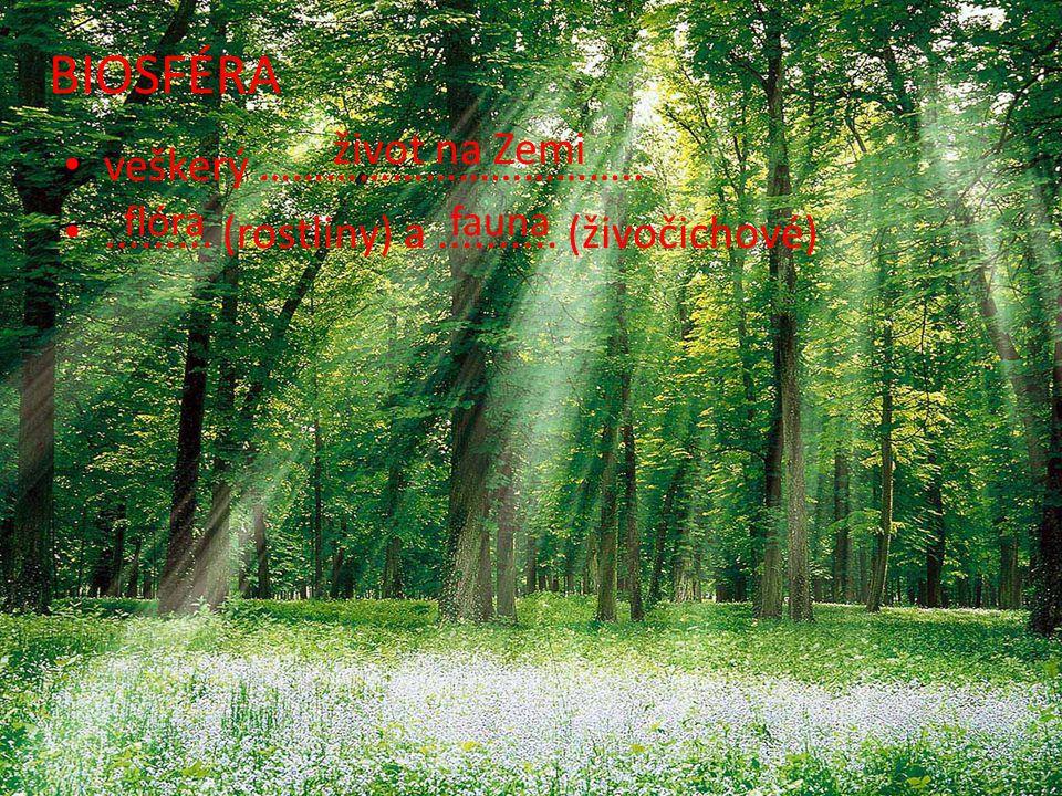 BIOSFÉRA život na Zemi veškerý ……………………………..