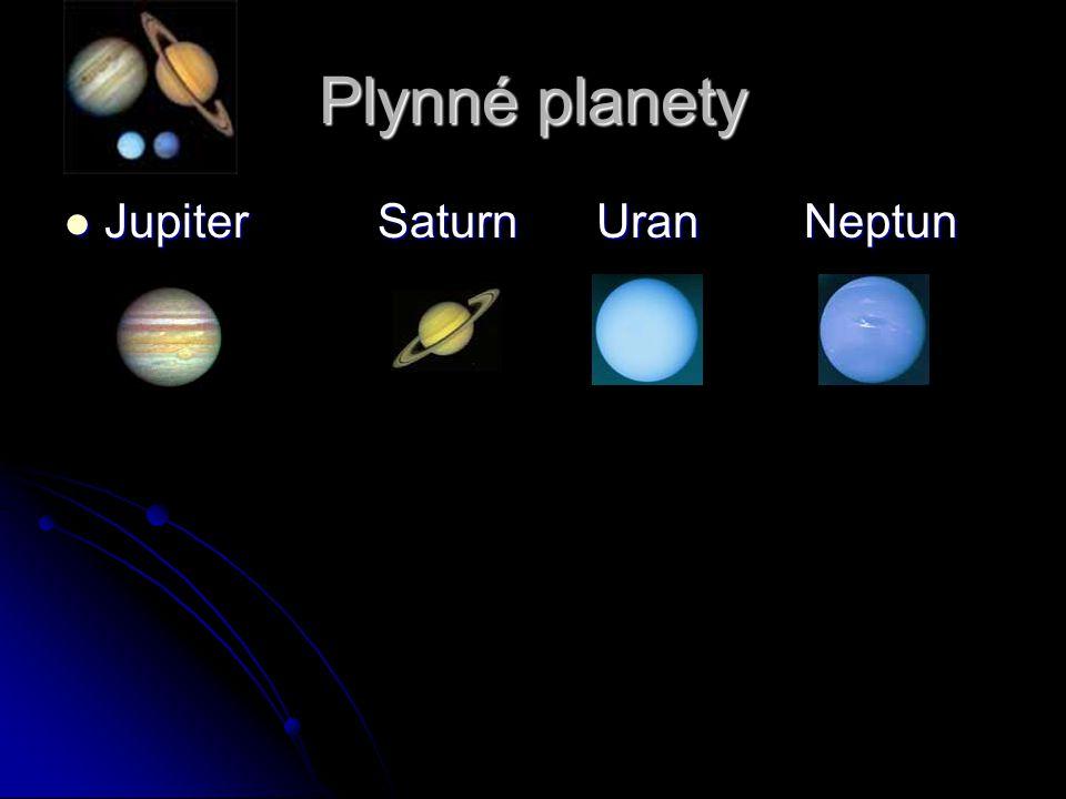 Plynné planety Jupiter Saturn Uran Neptun