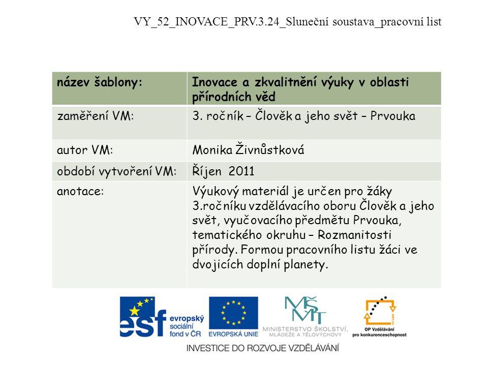 VY_52_INOVACE_PRV.3.24_Sluneční soustava_pracovní list