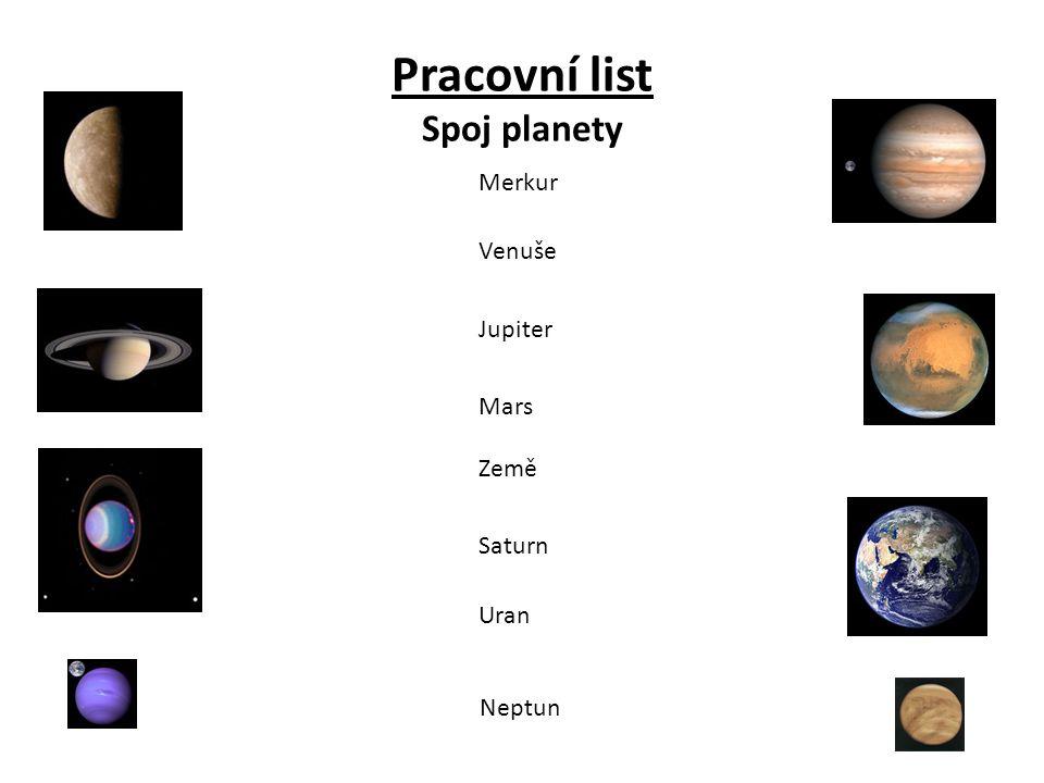 Pracovní list Spoj planety