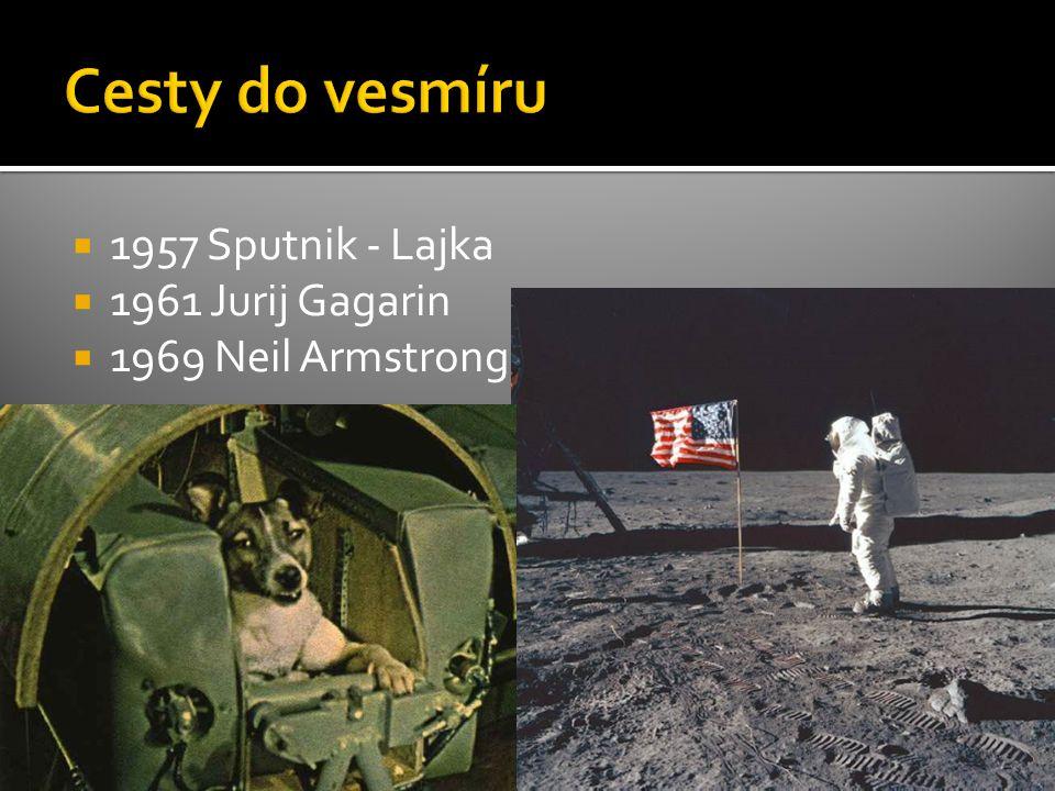 Cesty do vesmíru 1957 Sputnik - Lajka 1961 Jurij Gagarin