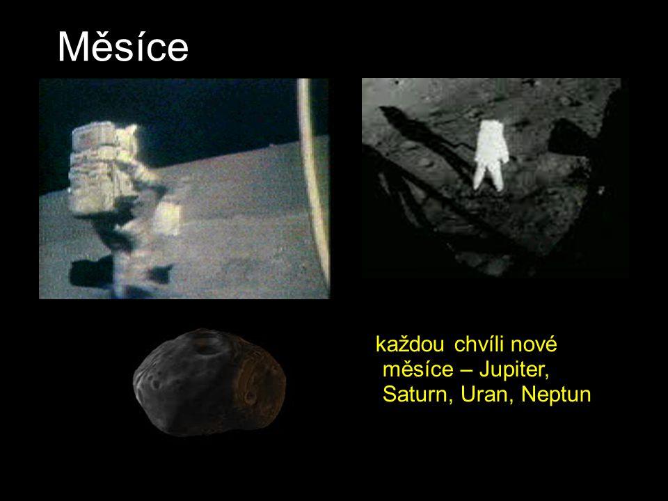 Měsíce každou chvíli nové měsíce – Jupiter, Saturn, Uran, Neptun