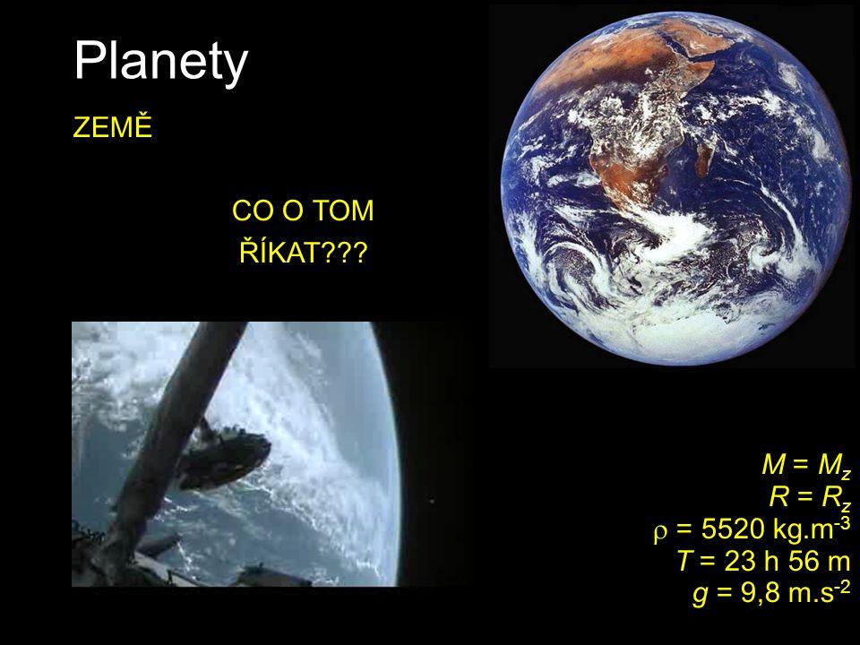 Planety ZEMĚ CO O TOM ŘÍKAT