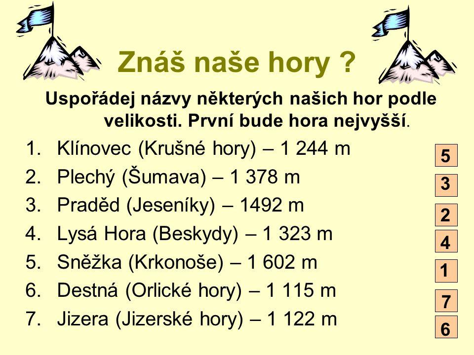 Znáš naše hory Klínovec (Krušné hory) – 1 244 m