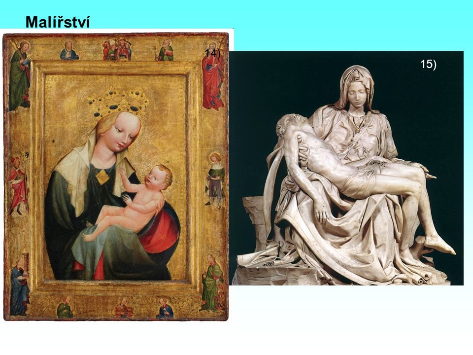 - deskové obrazy – malba na vyhlazené dřevěné desky