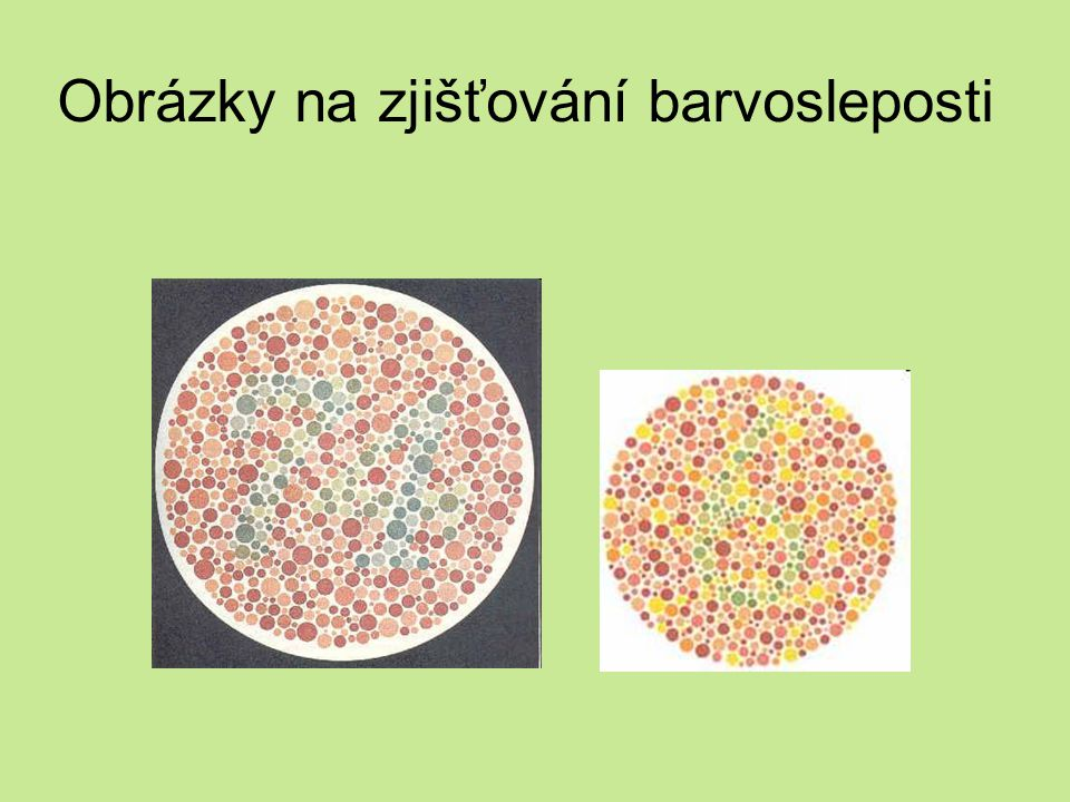 Obrázky na zjišťování barvosleposti