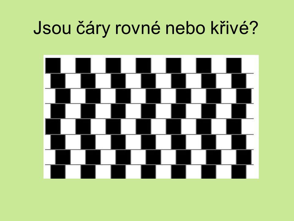 Jsou čáry rovné nebo křivé