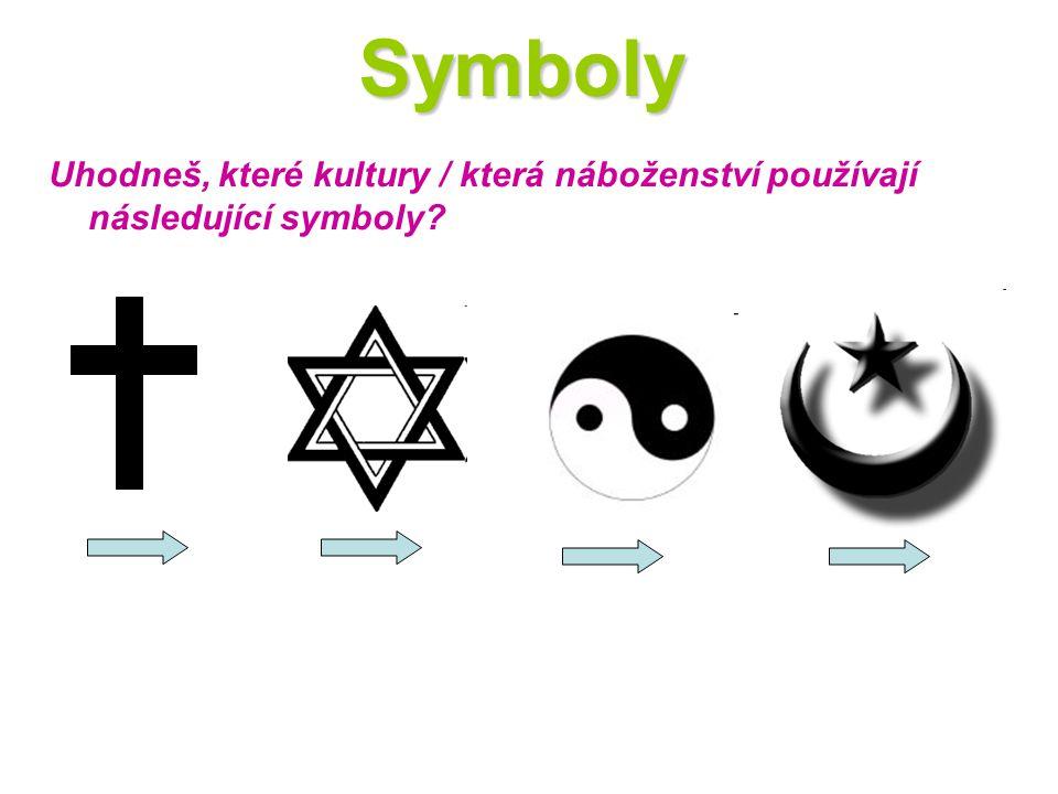 Symboly Uhodneš, které kultury / která náboženství používají následující symboly