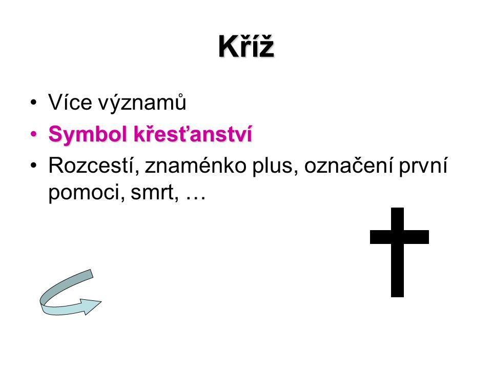 Kříž Více významů Symbol křesťanství