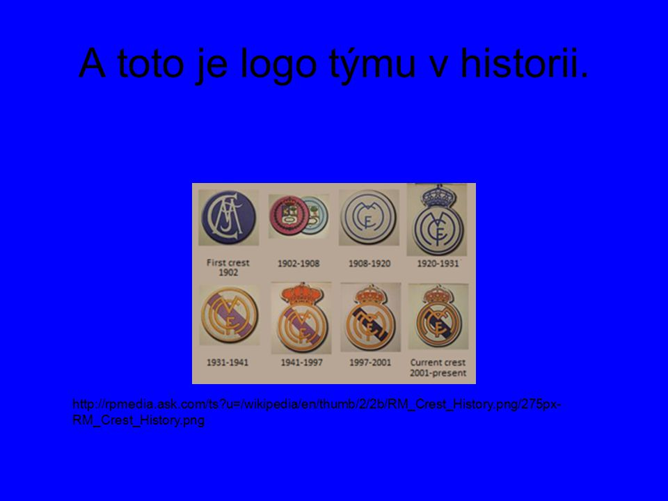 A toto je logo týmu v historii.