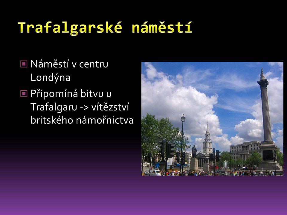 Trafalgarské náměstí Náměstí v centru Londýna