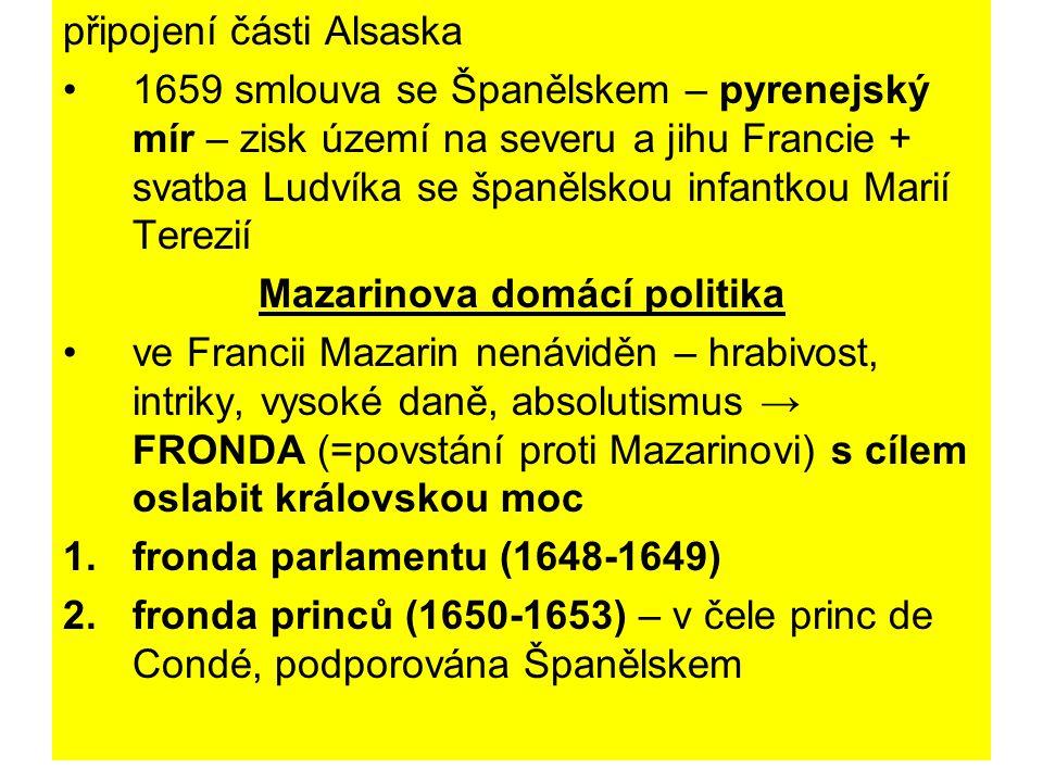 Mazarinova domácí politika