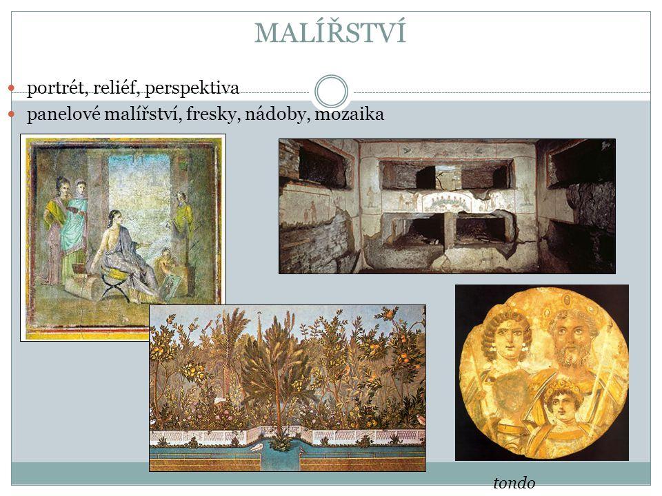 MALÍŘSTVÍ portrét, reliéf, perspektiva