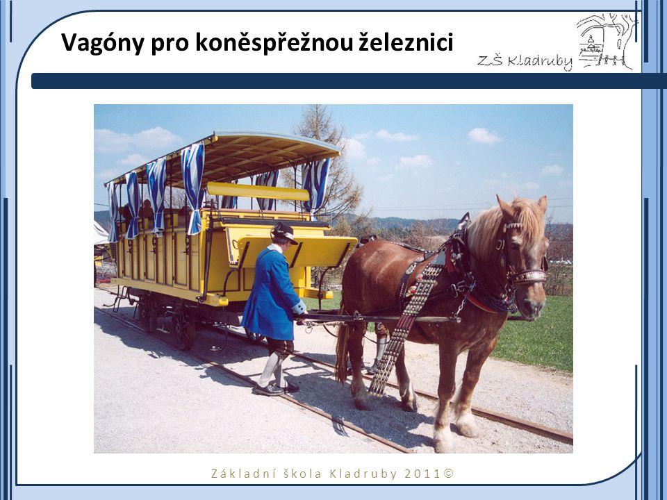 Vagóny pro koněspřežnou železnici